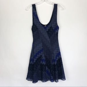 Free People | Navy & Black Knitted Lace Wave Dress